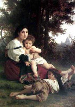 Mother and Children poster print by William Adolphe Bouguereau