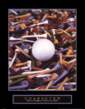 Character - Golf Tees poster print by Bruce Curtis
