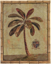 Caribbean Palm IV With Bamboo Border poster print by Betty Whiteaker