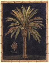 Caribbean Palm I With Bamboo Border poster print by Betty Whiteaker