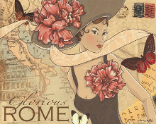 Rome poster print by Maria Woods
