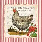 French Hen poster print by Gwendolyn Babbitt