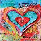 Message from Heart poster print by Belinda Dworak