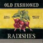 Old Fashioned Radishes poster print by Kimberly Poloson