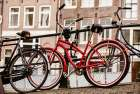 Amsterdam Red Bicycle poster print by Erin Berzel