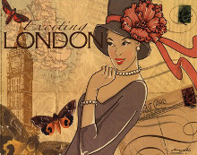 London poster print by Maria Woods