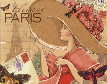 Paris poster print by Maria Woods