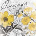 Courage floral poster print by Jace Grey