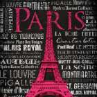 Paris Type poster print by Jace Grey