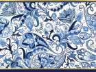 Blue and Gold Paisleys 1 poster print by Kimberly Allen