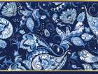 Blue and Gold Paisleys 2 poster print by Kimberly Allen