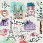 A Day In Paris poster print by Kimberly Allen