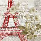 Paris Script Series 4 poster print by Allen Kimberly