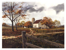 Autumn Cascade - Autumn Barn poster print by Michael Humphries
