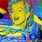Marilyn Paris poster print by Marilu Windvand