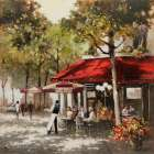 Paris Al Fresco poster print by E. Anthony Orme