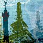 Paris - French Blue poster print by Maura Allen