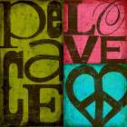 Peace and Love poster print by SuZanna Anna