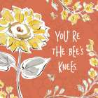 Bee Happy II Spice poster print by Daphne Brissonnet