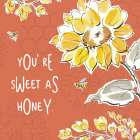 Bee Happy III Spice poster print by Daphne Brissonnet