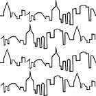 NY Chic Skyline black on white poster print by Marco Fabiano