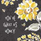 Bee Happy III Black poster print by Daphne Brissonnet