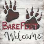 Barefeet Welcome poster print by Anne Seay