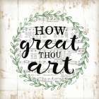 How Great Thou Art poster print by Jennifer Pugh