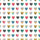 Colorful Hearts poster print by Linda Woods