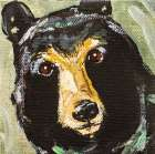 Black Bear poster print by Molly Susan Strong