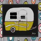 Camper - Green poster print by Shanni Welsh