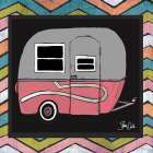 Camper - Pink poster print by Shanni Welsh