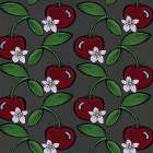 Cherry Pattern - Color poster print by Shanni Welsh