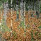 The Birch Wood poster print by Gustav Klimt