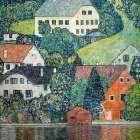 Houses at Unterach poster print by Gustav Klimt