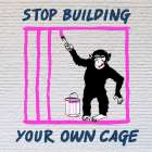 Chimp in Cage poster print