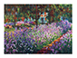 The Artists Garden at Giverny poster print by Claude Monet