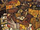 Crescent of Houses The Small City V poster print by Egon Schiele