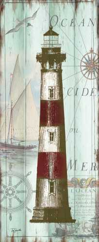 Antique La Mer Lighthouse Panel II poster print by  Tre Sorelle Studios