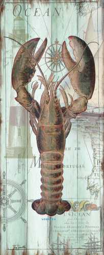 Antique La Mer Sea Creature Panel I poster print by  Tre Sorelle Studios