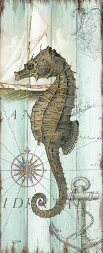 Antique La Mer Sea Creature Panel II poster print by  Tre Sorelle Studios