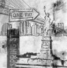 New York One Way  poster print by Sara Abbott