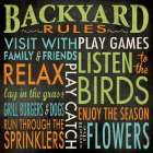 Backyard Rules poster print by Stephanie Marrott