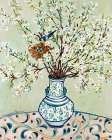 Blue and White Vase with Bird poster print by Suzanne Etienne