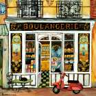Boulangerie and Red Scooter poster print by Suzanne Etienne
