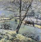 Winter at Montfoucault with Snow, 1875 poster print by Camille Pissarro