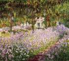 Garden at Giverny poster print by Claude Monet
