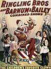 Barnum and Bailey - Childrens Favorite Clown poster print by  Unknown