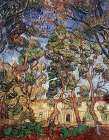 Trees in the Garden of Saint-Paul Hospital poster print by Vincent van Gogh