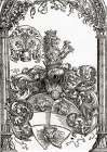 Coat Of Arms With Three Lions Heads poster print by Albrecht Durer